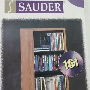 Sauder Audio/Video Media Storage Tower 6 Adjustable Shelves Oak Finish NEW