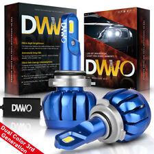 Pair 9005 HB3 LED Total 1280W 192000LM Combo Headlight Kit Bulbs Hi Low Beam