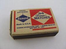 Vintage Matchbook Box: Diamond Strike Anywhere Made in USA