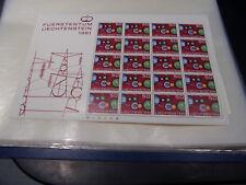 Liechtenstein 414 Kleinbogen CEPT 1961  postfrisch (B1101)