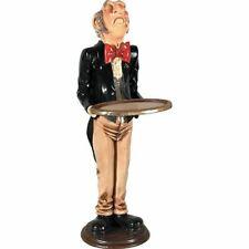 "38""H Restaurant Waiter Gold Server Tray Butler Statue Buffet Table Kitchen Decor"
