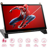 "Touch 7.0"" LCD CCTV PC Monitor Mini HD Screen Display For DSLR Raspberry PI 23 4"