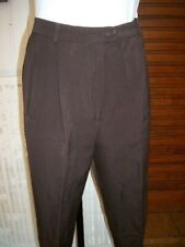 Pantalon habillé laine marron MAX MARA 36fr  42it à pinces bas étroit 18vp2