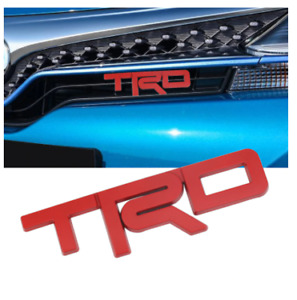 TRD Red Front Hood Bonnet Grille Emblem Badge Decal Logo for Corolla Camry Yaris
