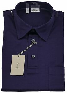 Brioni Mens Polo T Shirt Handmade SZ S /EU 46 UK 36 Made in italy Cotton