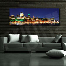 Quebec City at Night Canada Canvas Poster Art Print Home Wall Decor