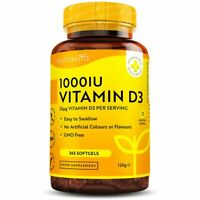Vitamin D3 1000IU 25µg - 365 Softgels - Immune Support, Bones Teeth & Joint Care