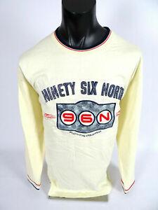 Mens Polo Shirt Ninety Six North Khaki Heavy Long Sleeve with Embroidery