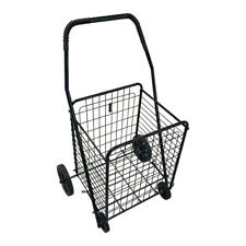 Medium Folding Shopping Cart Utility Trolleysingle Basketportable For Grocery