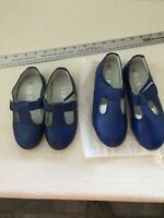2 Pairs lot 28 32 Girls Uniform Shoes Navy Soft Leather Mary Janes  11 1