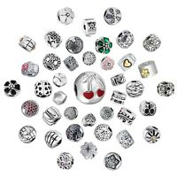 Love Heart Clips Charms Bead  Fit 925 Silver Sterling Bracelets Necklace
