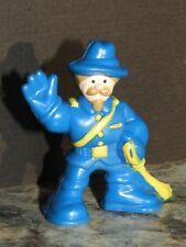 Lot of 1 Genuine LINCOLN LOGS  Blue CAVALRY Minifigure with Yellow Sword