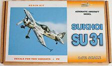 Aerobatic Aircraft model SUKHOI SU31 resin kit, scale 1/72