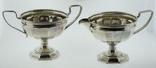 Webster Sterling Silver Creamer & Sugar Bowl with Handles