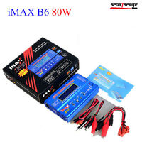 B6 80W Lipo NiMh Li-ion RC Battery Balance Digital Charger Discharger X3F4