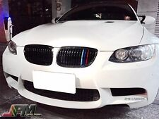 Gloss Black M Tri Front Kidney Grill Grille For BMW 08-13 E90 E92 E93 M3 2Dr/4Dr