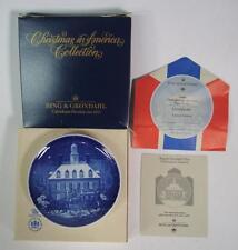 Bing and Grondahl Christmas In America Plate 1986 w/ Original Box + Paperwork
