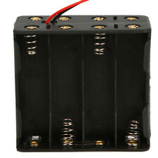 "New Battery 12V Clip Holder Box Case for 8X AA 2A with 6"" Leads Wire Black"