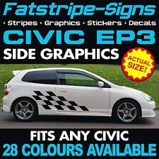 HONDA CIVIC EP3 GRAPHICS DECALS STICKERS STRIPES TYPE R S VTEC 1.6 2.0 SPORT JAP