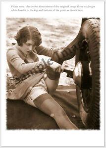Vintage 143 1920's Erotic Female Nude Sepia Retro Art PHOTO REPRINT A4 A3 or A2