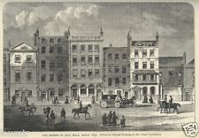 1860= OLD LONDON= PALL MALL IN 1830 = Stampa Antica = Old Rare ENGRAVING