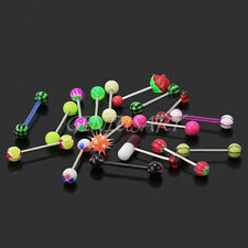 16pcs New Stylish Stainless Steel Tongue Bars Barbell Body Piercing Jewellery