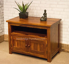 Solid Jali Indian Rosewood Sheesham TV Stand Cabinet Unit - 80cm wide IBF-024