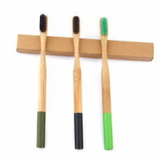 3pcs/Set Natural Bamboo Charcoal Soft Bristle Teeth Brush Whitening Toothbrush