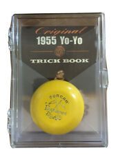 Duncan Wooden Crossed Flags Tournament Vintage-Replica YoYo - Yellow