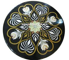 """18"""" Amazing Round Marble Coffee Side Table Top Inlay Hallway  Decorative H1923B"""