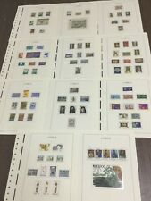 MOMEN: CYPRUS 1974-1978 MINT COLLECTION ON 11 HINGELESS PAGES LOT #6054