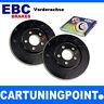 EBC Discos de freno delant. Negro Dash para NISSAN ALMERA 1 N15 usr691