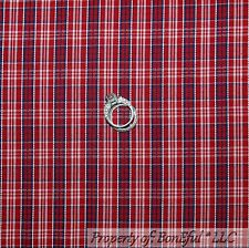 BonEful Fabric Cotton Quilt Red White Blue Plaid USA VTG Gingham Stripe 99 SCRAP