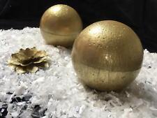 "2 pcs Gold Table Decoration,Gold Ball,10cm diameter /4""Wedding Centerpiece Decor"