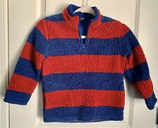 Gap kids Boys Size 6-7 Fuzzy Pullover Jacket Wtih Red And Blue Stripes