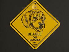 Beagle On Board Dog Breed Yellow Car Swing Sign Gift