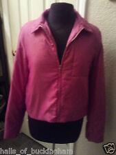 Womens BCBG Max Azria Jeans Light Purple Zip Up Chic Jacket SZ L