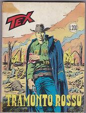 TEX N° 115 MAGGIO 1970 TRAMONTO ROSSO L.200 1 EDIZIONE ORIGINALE  L-5