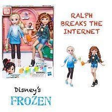 Hasbro Ralph Breaks The Internet Disney's Frozen Elsa+Anna Barbie Dolls NEW