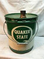 Vintage 1960 Quaker State Super Quadrolube  SAE 80 W 35lb OIL Can Container
