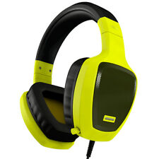 Auricular Gaming OZONE Rage Z50 Amarillo Cascos con Microfono Pc Ordenador Juego