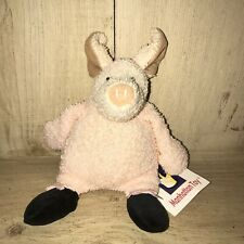 """Manhattan Toy Co Pierre Pig Tip Toes Plush Ballerina Black Ballet Shoes 8"""" Tags"""