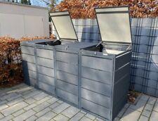 Mülltonnenbox Müllbox Mülltonnenverkleidung 4err Tonnen Verzinkt 240-4er RAL7016