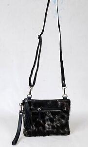 Real Cowhide Cross body Purse Handbag & Shoulder Bag Clutch Cow Leather SB-8202