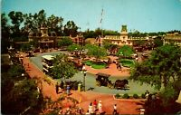Vtg Postcard Disneyland California -1964 Town Square - Main Street Posted
