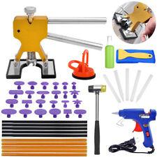 Paintless Dent Repair Removal Tool Auto Body Kit Puller Lifter Glue Gun Tabs US