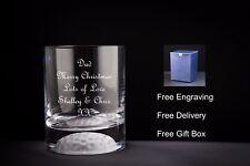 Vaso de Whisky Personalizado, con parte inferior de la bola de golf, Regalo De Navidad/Santa Secreto