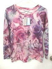 Christopher & Banks Ladies Size XS-Petite Purple Floral Pullover Top – Nwts Rtl