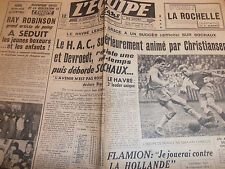 L'EQUIPE FOOTBALL LE HAVRE LEADER  ANNÉE 1950
