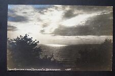 """Lake Michigan from """"Outlook"""" at BEECHMONT, vintage RPPC postcard, Whitehall"""